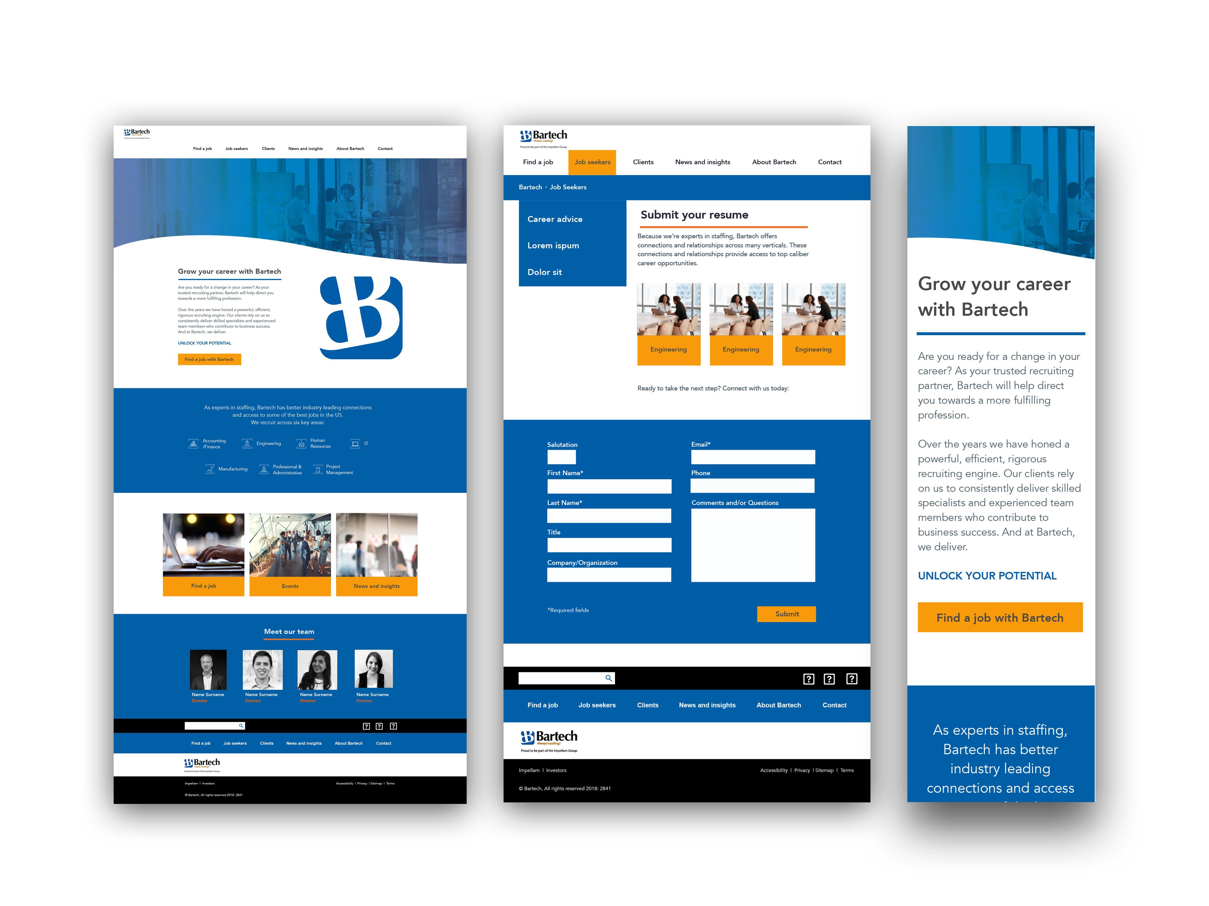 Bartech website desktop and mobile mockup