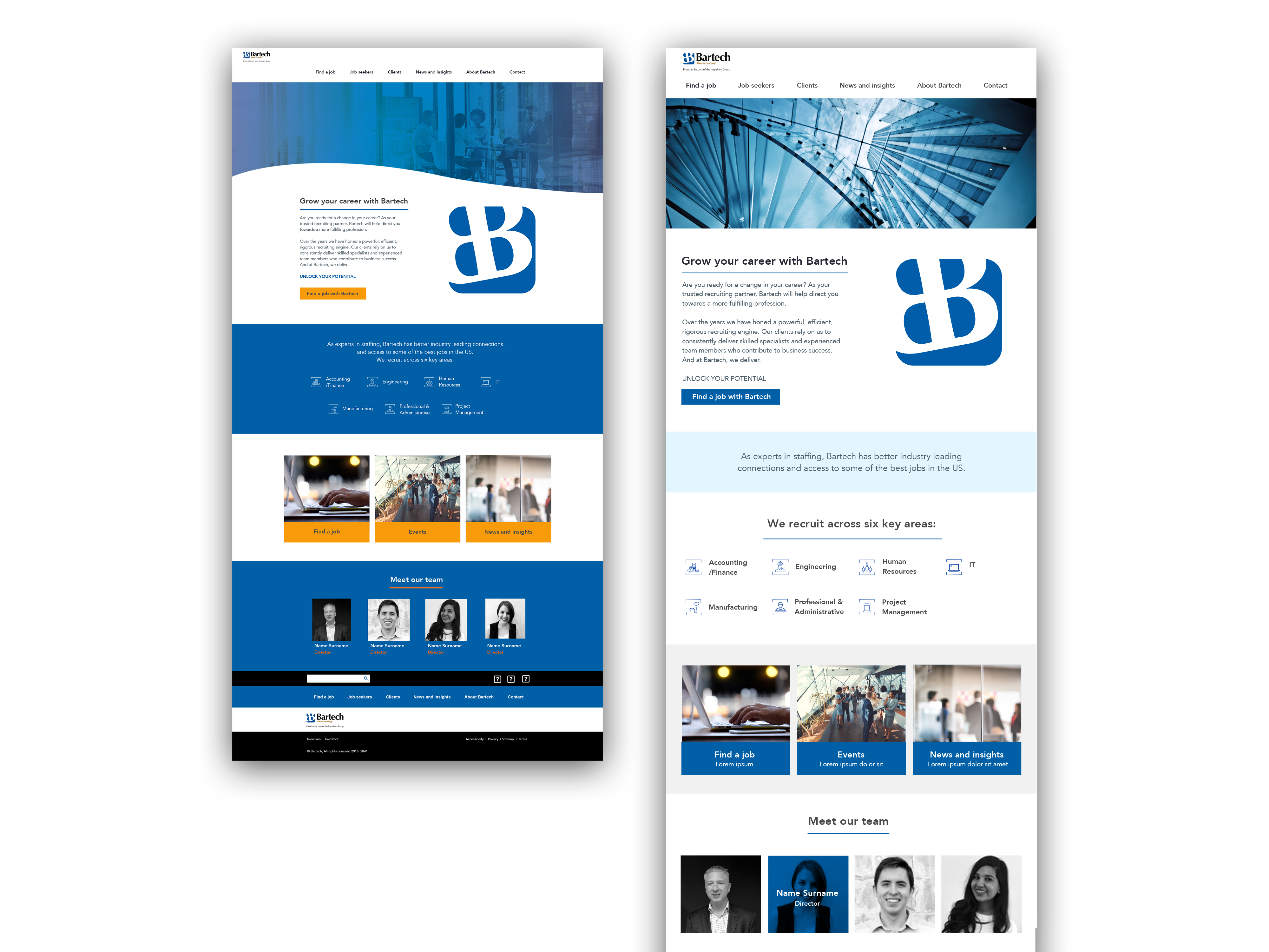 Bartech website desktop x 2 mockup